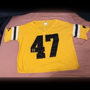 Vs pink Iowa Hawkeyes jersey type top